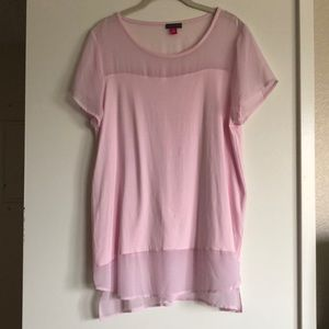 Vince Camuto soft pink blouse